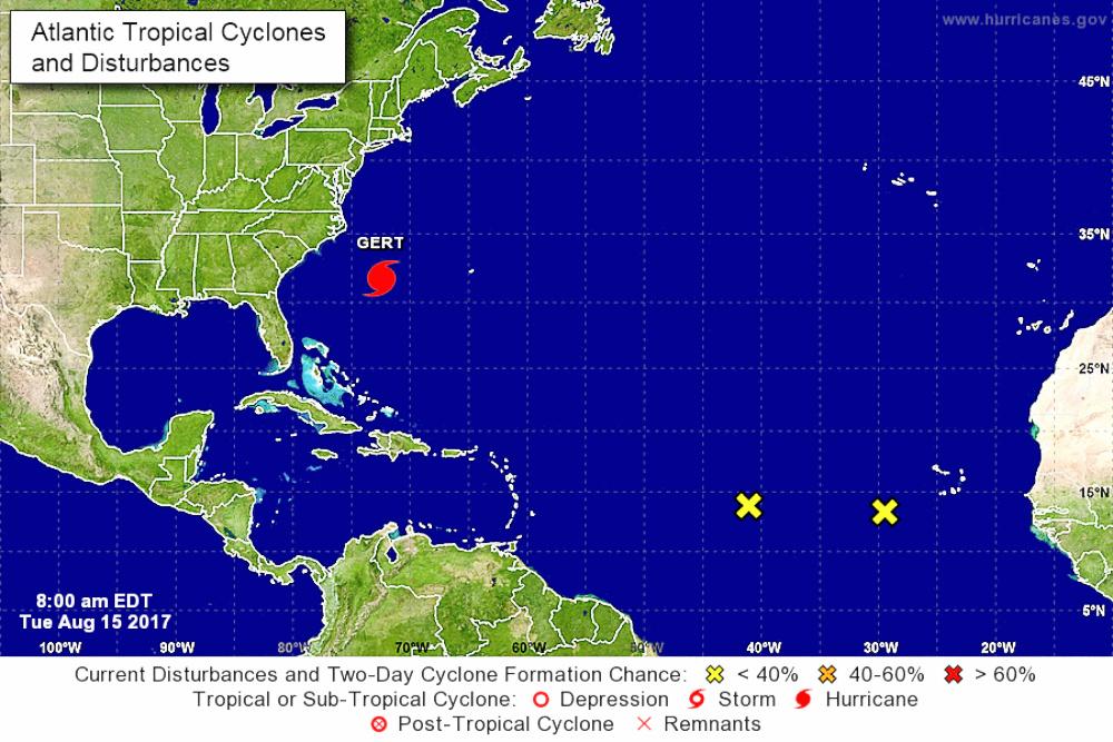 Periodo de alta actividad ciclónica: vigilan 2 sistemas