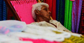 vendedor de hamacas, feria tunich 2017