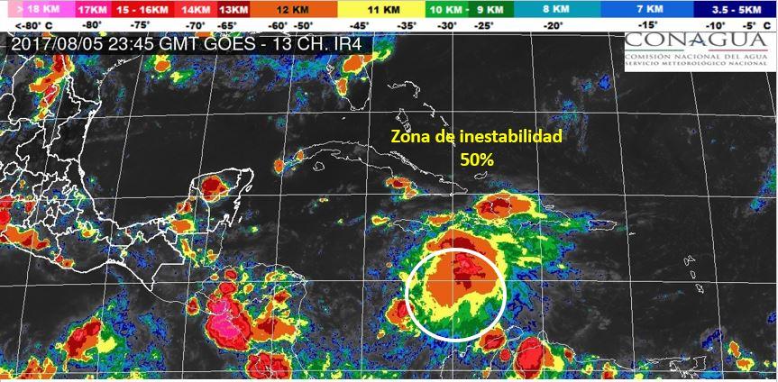 Retoma fuerza potencial ciclón en sureste de Cancún