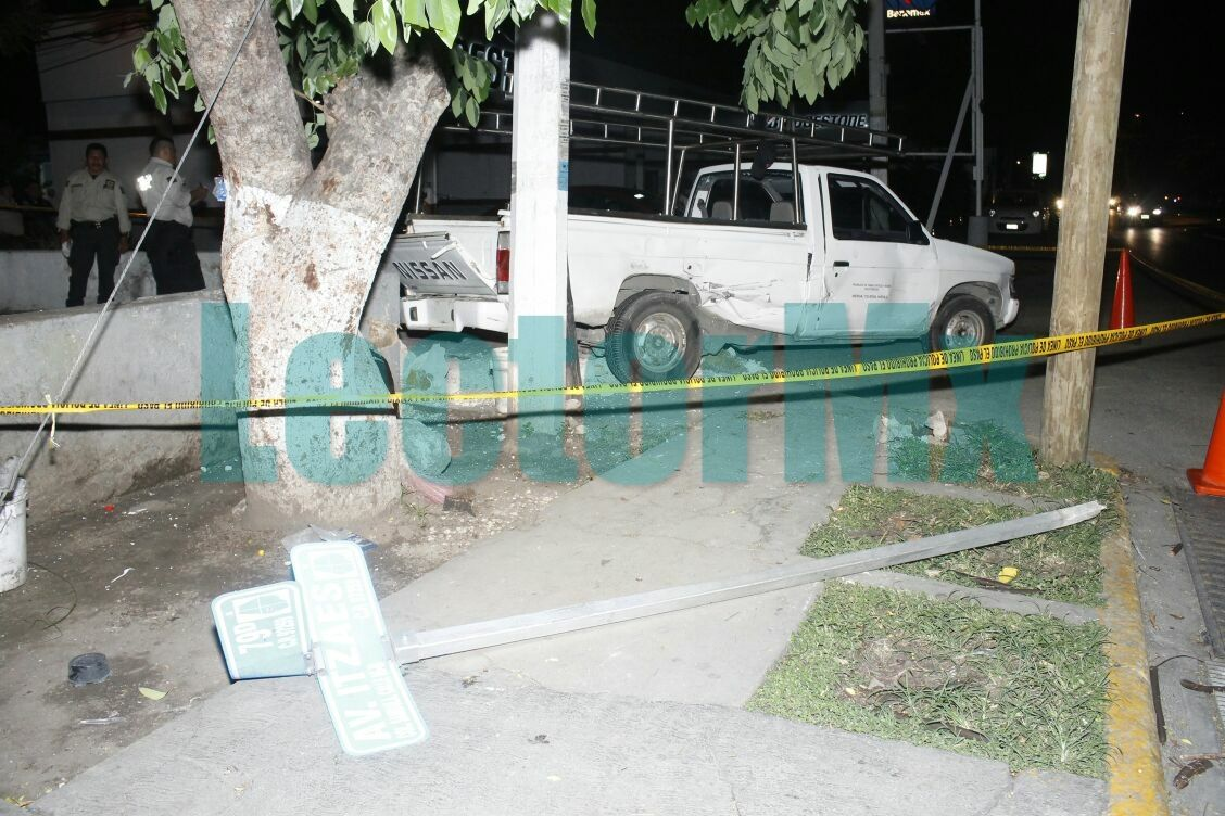 Chocan deportistas en avenida Itzáes