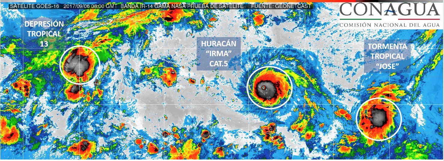 """""""Irma"""" no para; """"José"""" es casi huracán y ya nació """"Katia"""""""