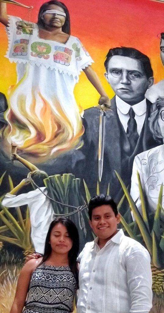 Noemí Ramírez Mena y Yordan Yan Chuc, musa y pintor