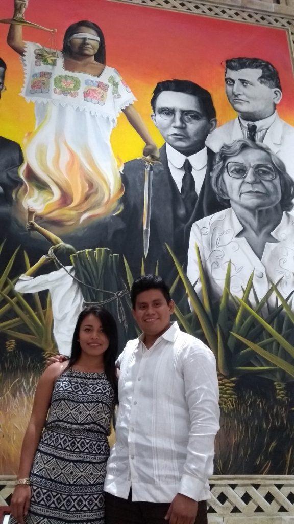 Noemí Ramírez y Yordan Yan Chuc, pintor y musa La justicia yucateca