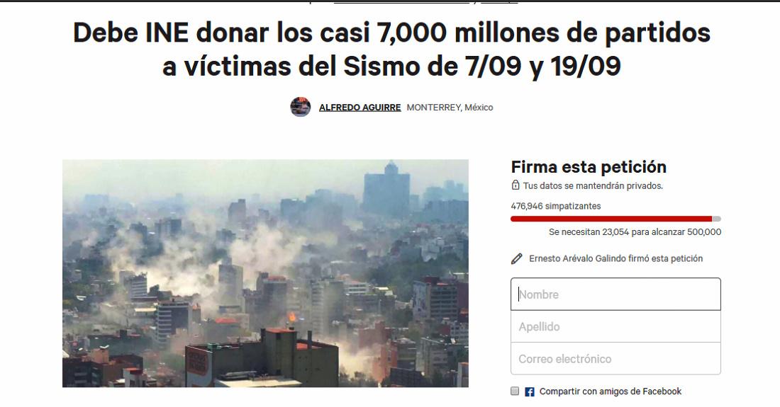 """Se oye un """"grito"""" tras el temblor: que partidos donen todo su dinero"""