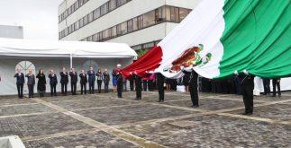 El INE realizó la ceremonia cívica que marcó el inicio del proceso electoral 2018 en México, en el que se elegirá al nuevo presidente. (INE)