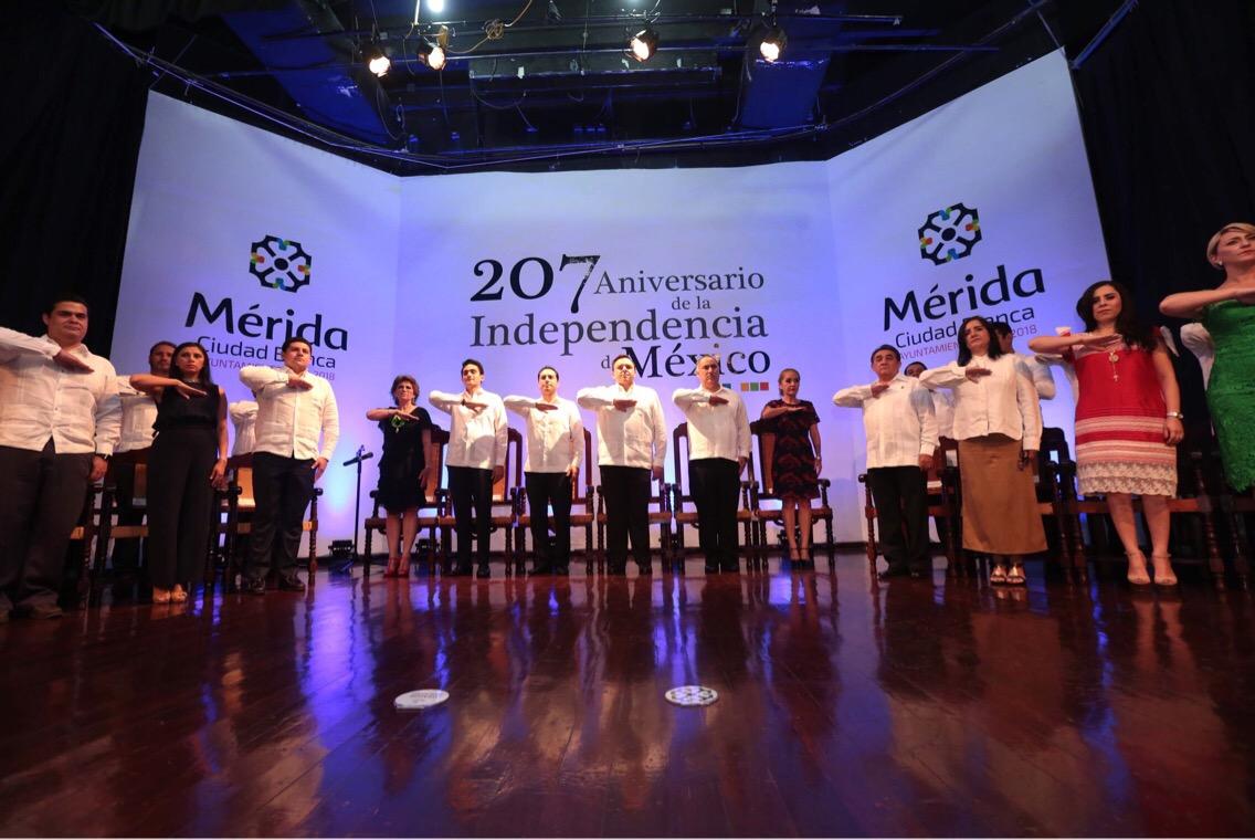 Cabildo Mérida celebra Aniversario de Independencia de México