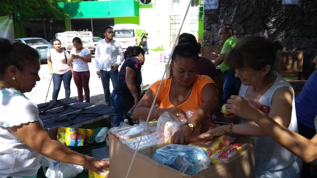Fluye ayuda de Mérida para damnificados de sismo