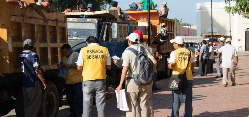 Yucatán busca la certificación como área libre de paludismo o malaria. La imagen, de brigadistas de salud, está utilizada sólo con fines ilustrativos. (Secretaría de Salud de Yucatán)