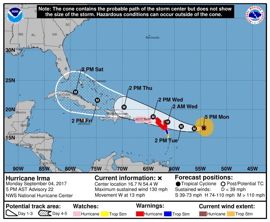 """""""Irma"""" toma fuerza: ya es categoría 4"""