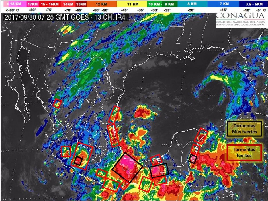 mapa lluvias mexico