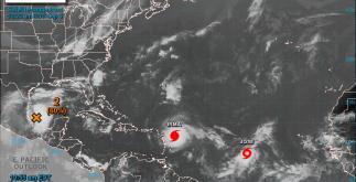 """Esta mañana, se formó en el oceáno Atlántico la tormenta tropical """"José"""", con vientos máximo de 65 kilómetros por hora."""
