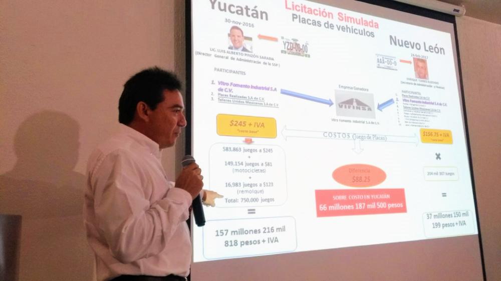 Empresa yucateca ofreció placas más baratas en Nuevo León que en Yucatán