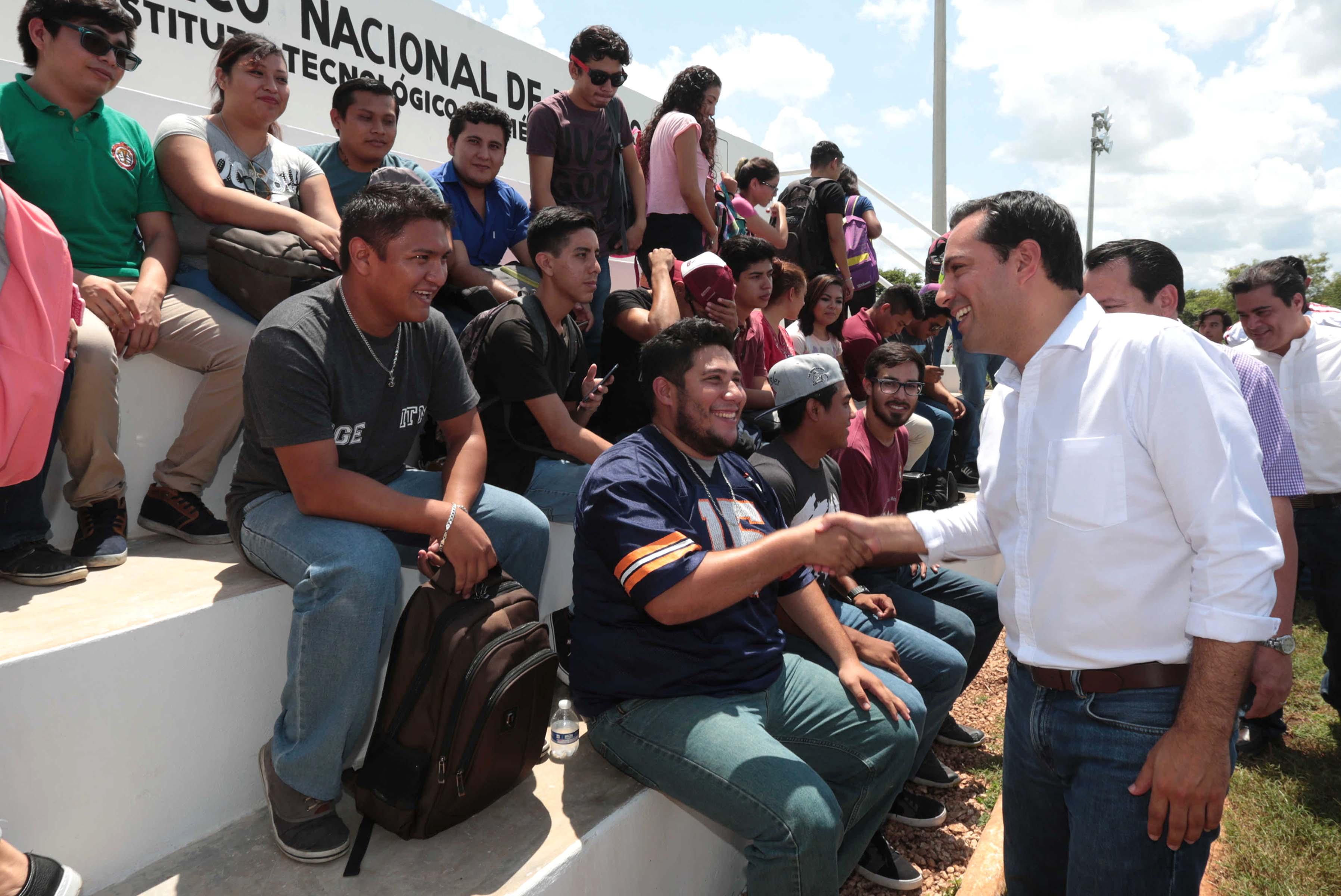 Entrega de infraestructura educativa a Tec Mérida Campus Poniente