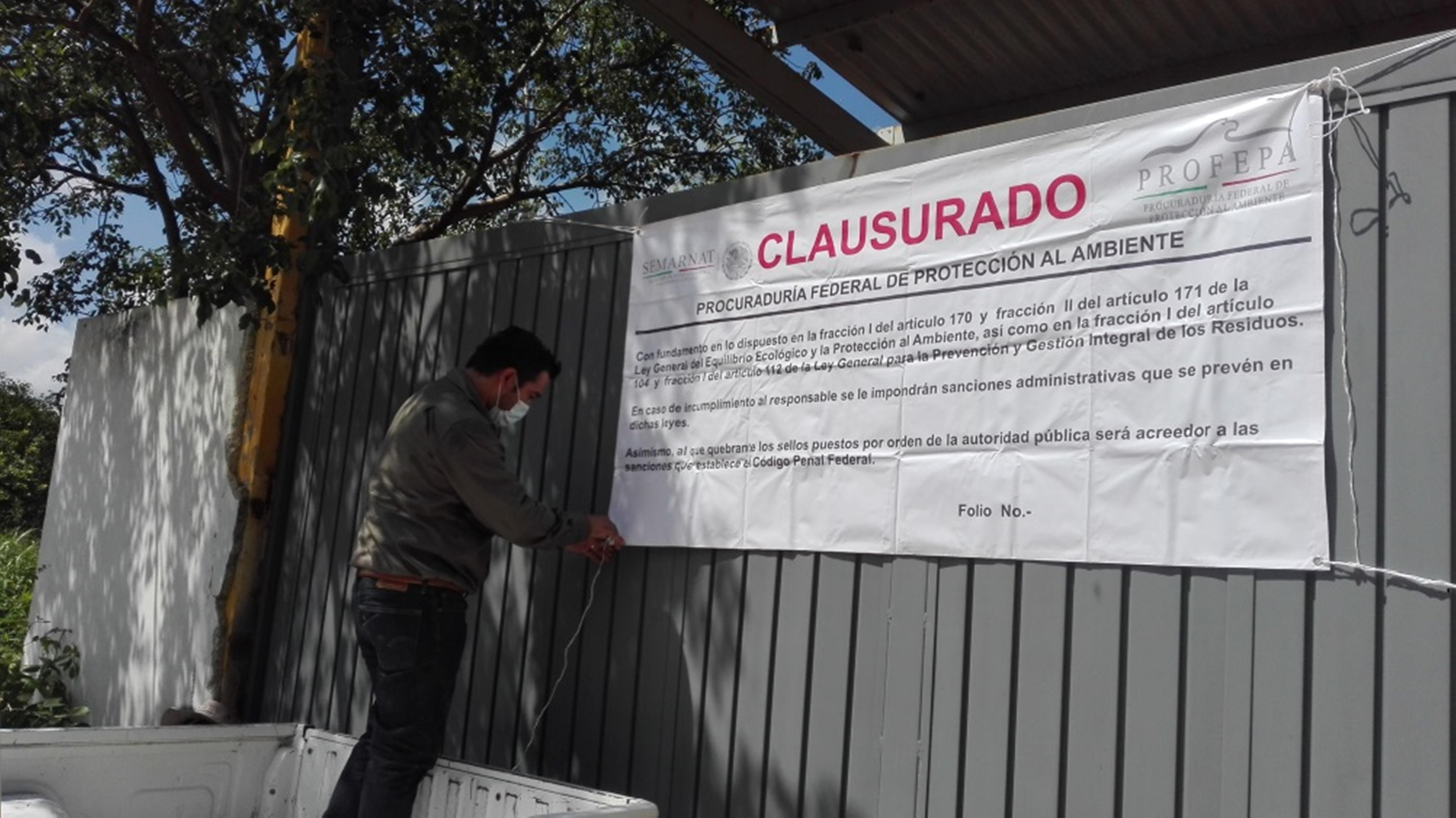 Clausura temporal a empresa en Mérida por residuos peligrosos