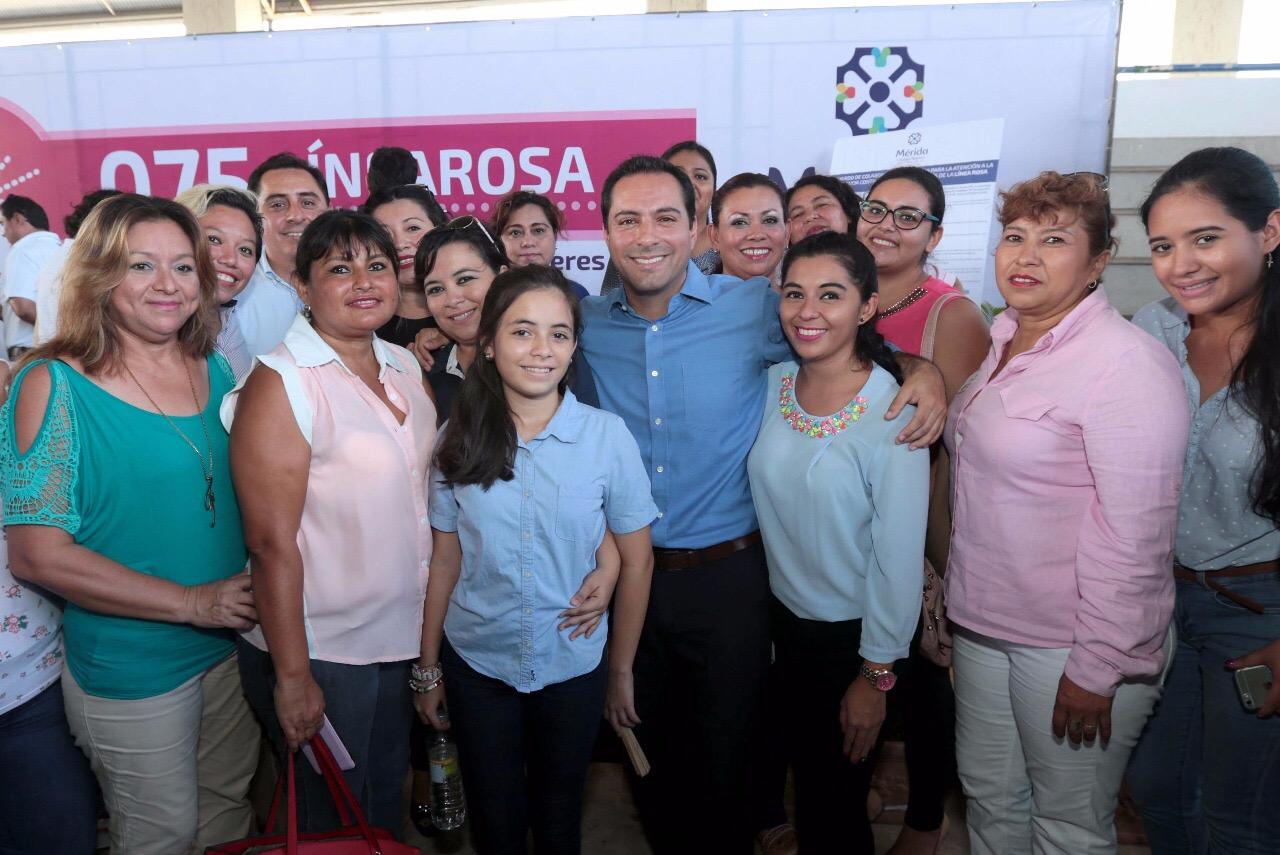 Línea Rosa para prevenir violencia contra la mujer