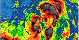 Tormenta tropical Nate en imagen de satélite. Conagua