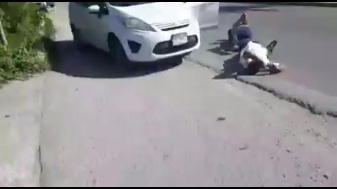 Imágenes de la trágica muerte de taxista en Cancún