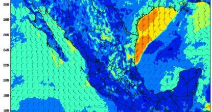 Mapa temperaturas bajas México