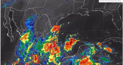 Pronostico del clima: imagen de satélite