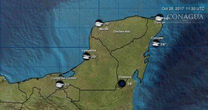 temperaturas mínimas en Península de Yucatán