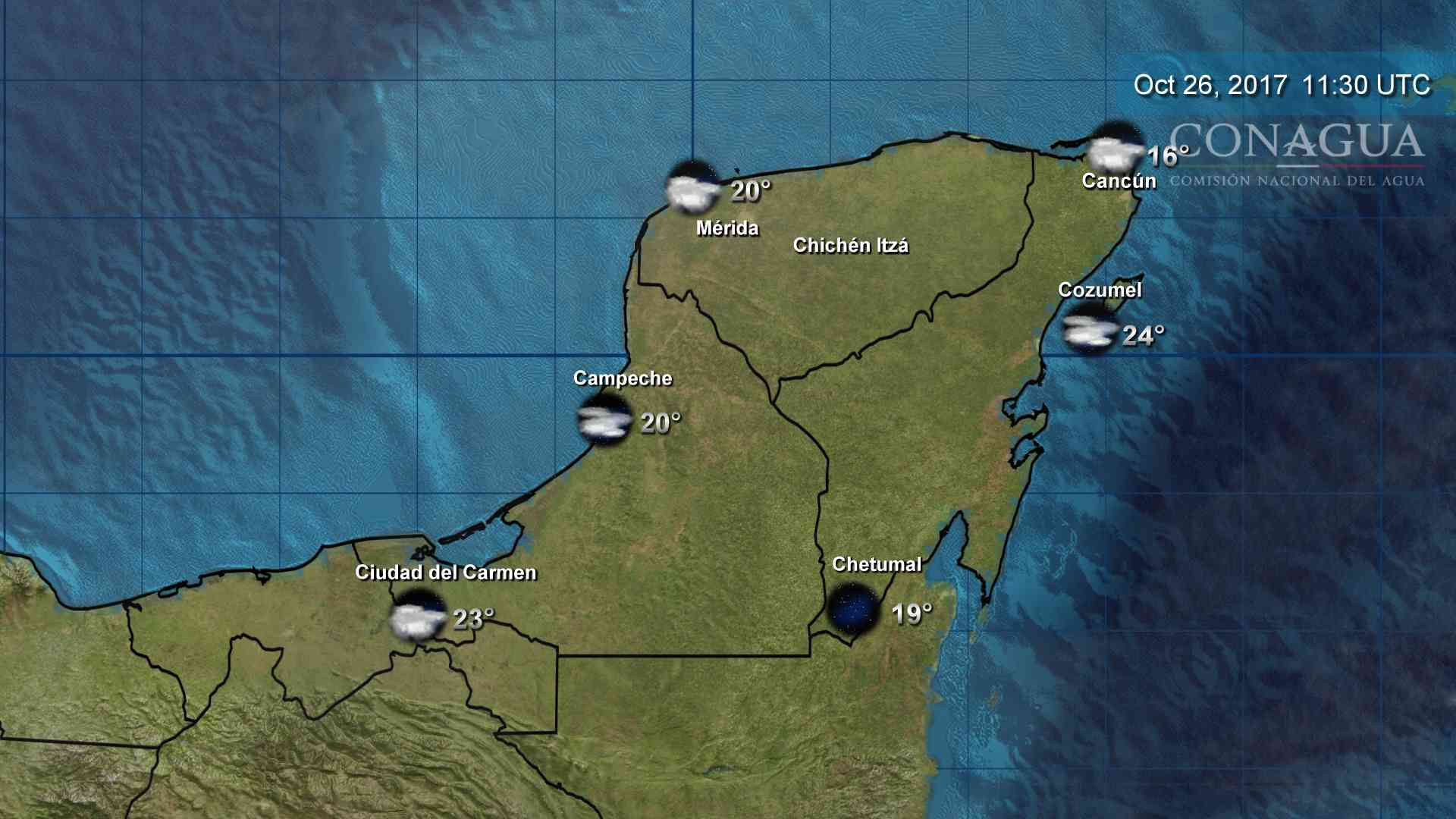 Baja hasta los 20 grados temperatura en Mérida; en Cancún, a 16 (video)