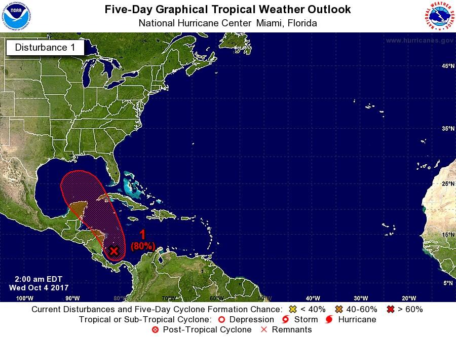 """Ciclón """"toma forma"""" al sureste de la Península de Yucatán (video)"""