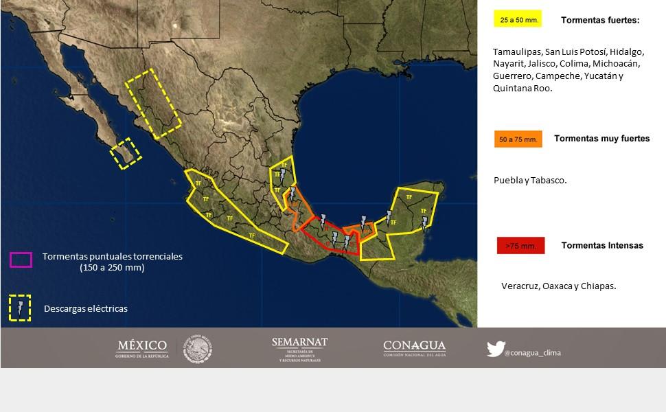 Amenaza de lluvia en Yucatán por llegada de onda tropical (video)