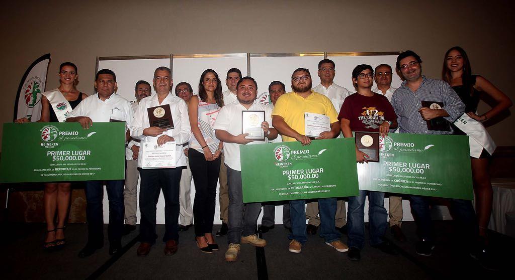 Entregan premios Heineken de periodismo en Yucatán