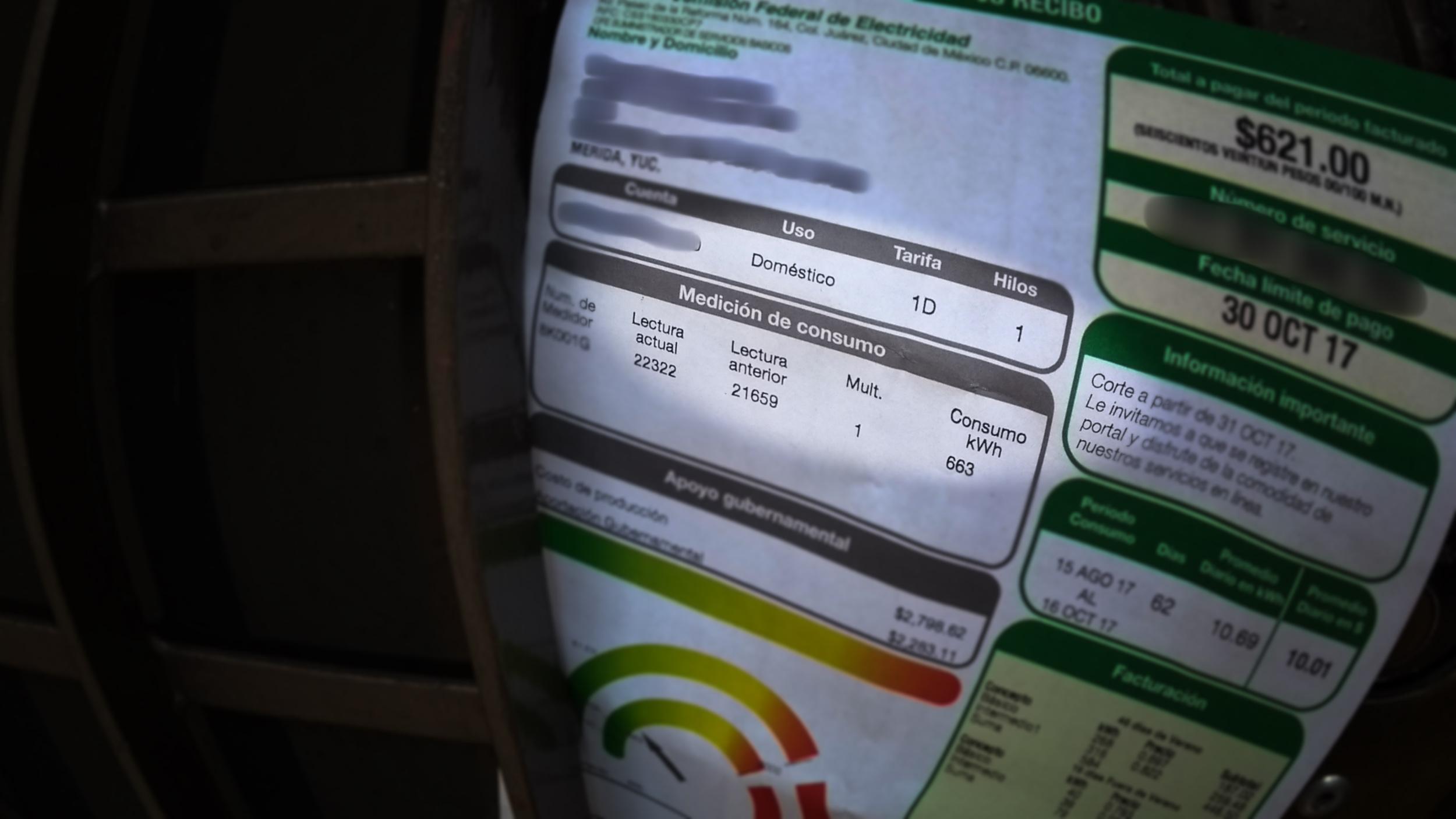 Llegan primeros recibos de luz con tarifa más baja en Mérida