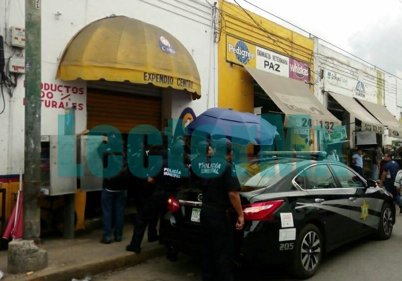 """Asaltan """"pollería"""" en centro de Mérida"""