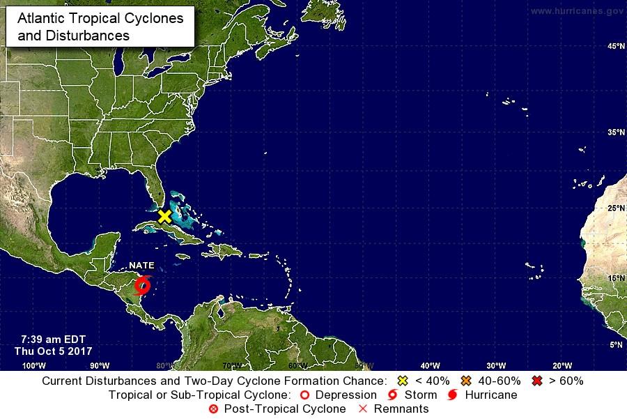 """Surge """"Nate"""": extienden en Yucatán vigilancia de huracán"""