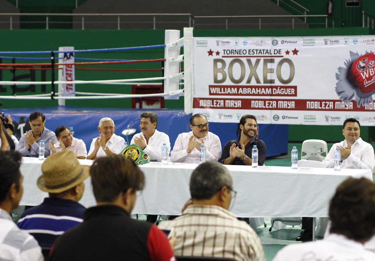 Ex campeones mundiales apadrinan en Mérida Torneo Estatal de Box