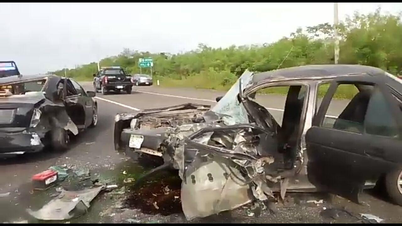 Accidente en la Mérida-Motul deja cinco heridos