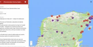 La activista María Salguero colocó en Google Maps los feminicidios en México.