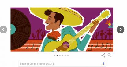 Una de las imágenes que componen el 'doodle' de Google, sobre el natalicio de Pedro Infante Cruz.