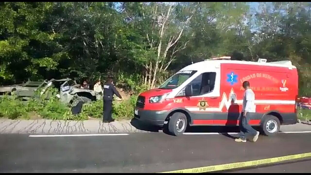 Accidente de militares en Yucatán: mueren tres