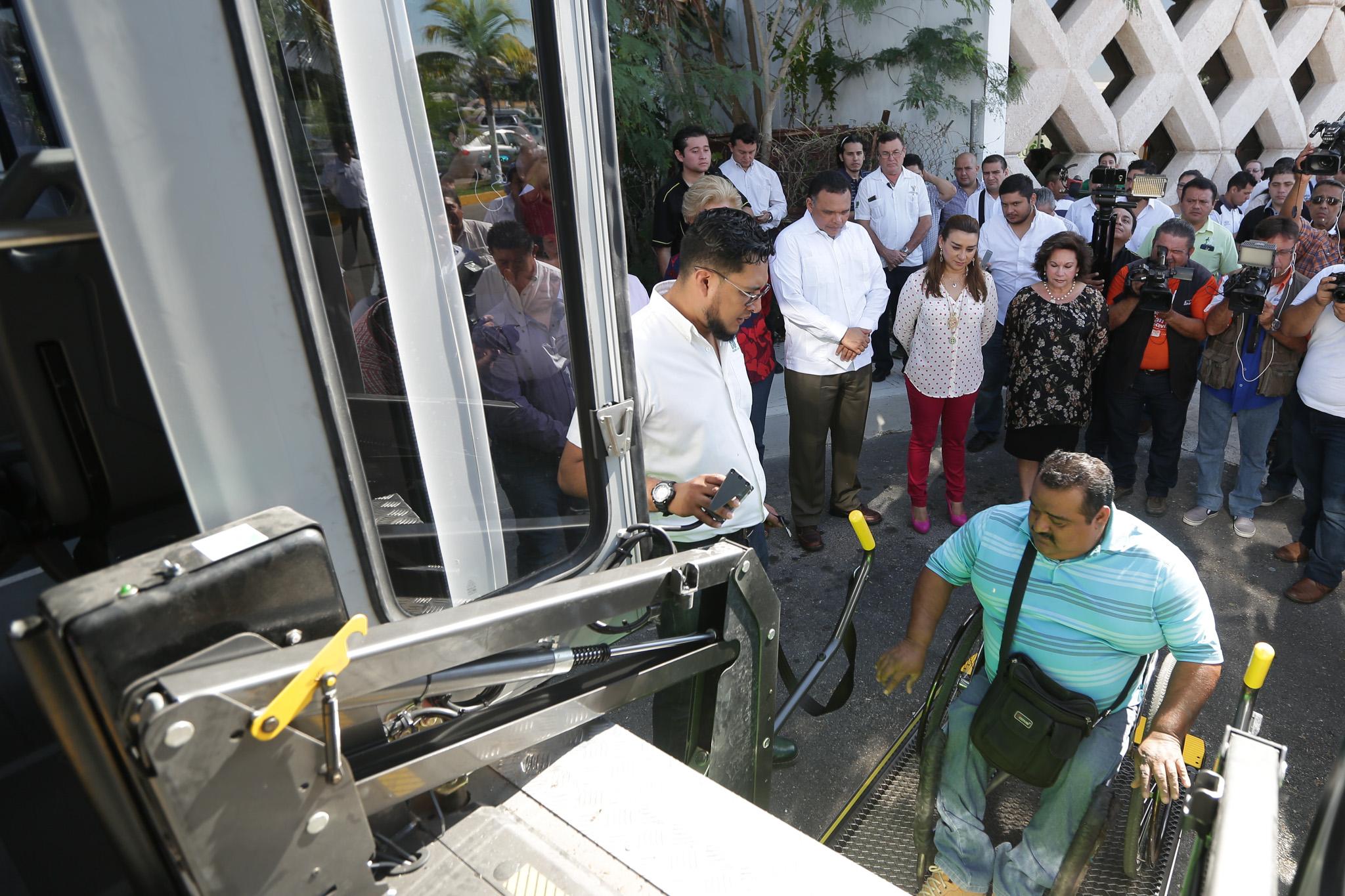 Garantizan inclusiónen transportepúblico de Yucatán