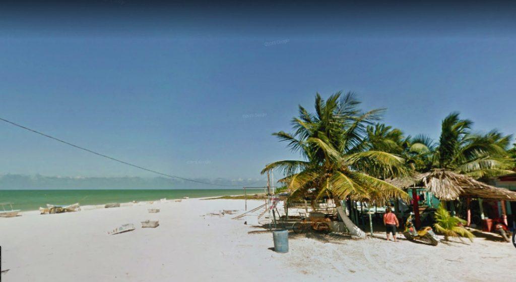 Celestún, Yucatán. Google Street View