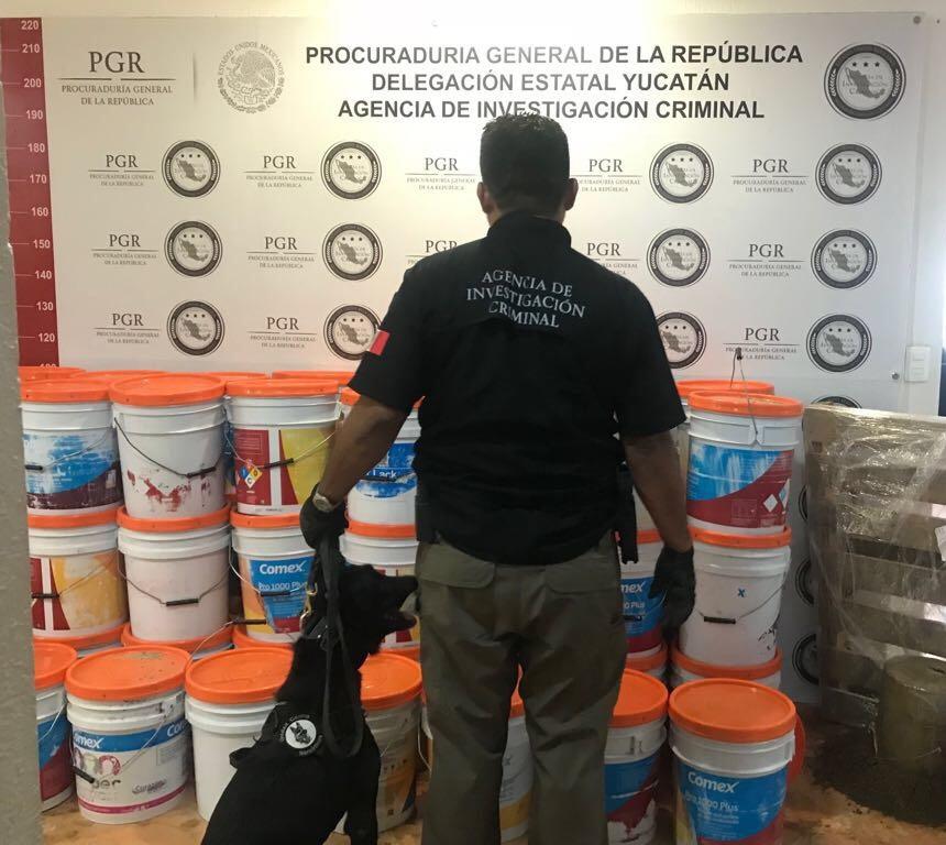 Investiga PGR envío con más de 500 kilos de droga en Mérida