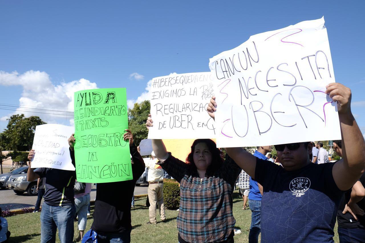Quieren permanencia de Uber en Cancún