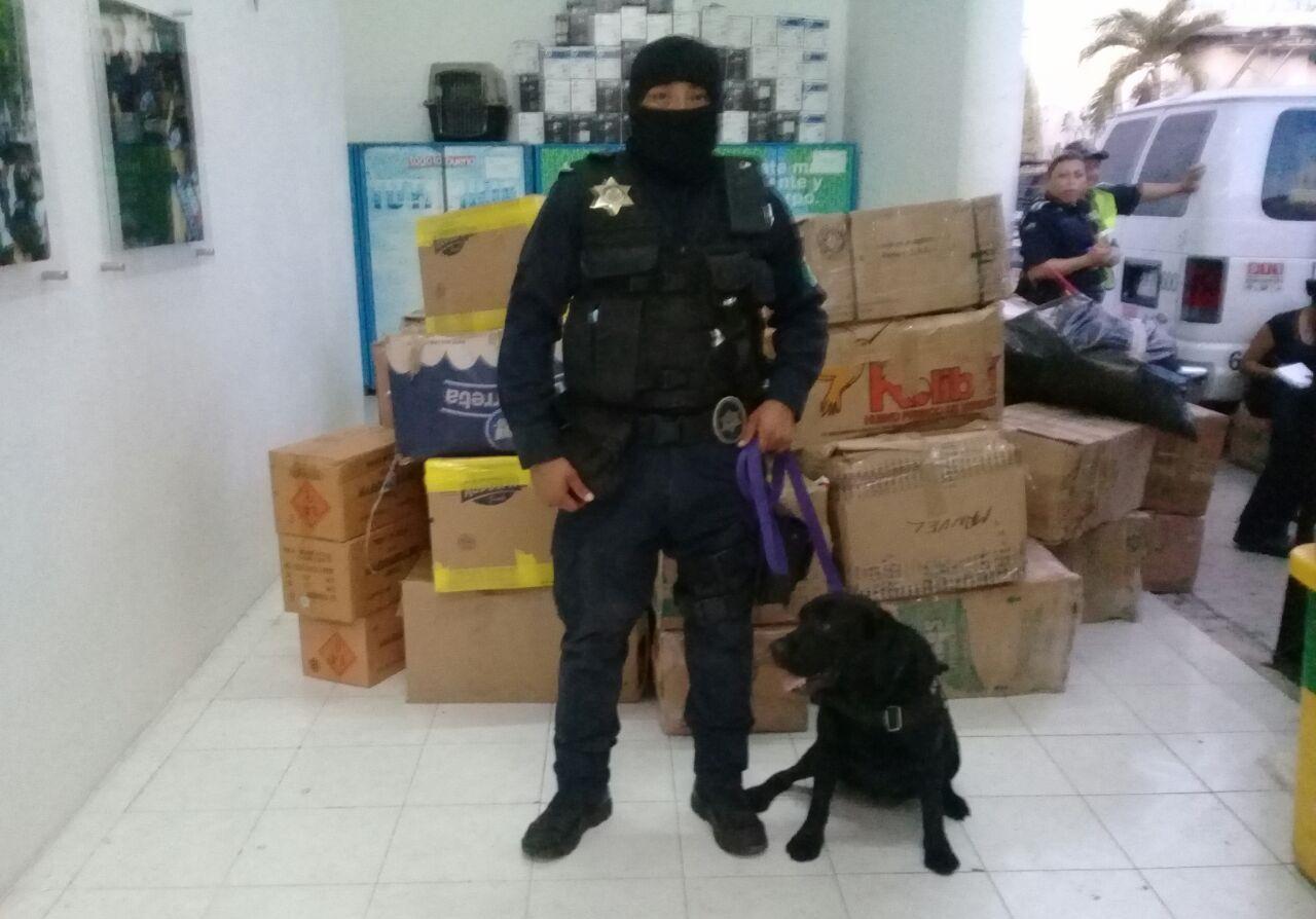 Golpe a venta ilegal de pirotecnia en Mérida: decomiso de mil 79 kilos