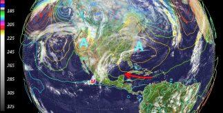 clima foto satelite alta presión península de yucatan