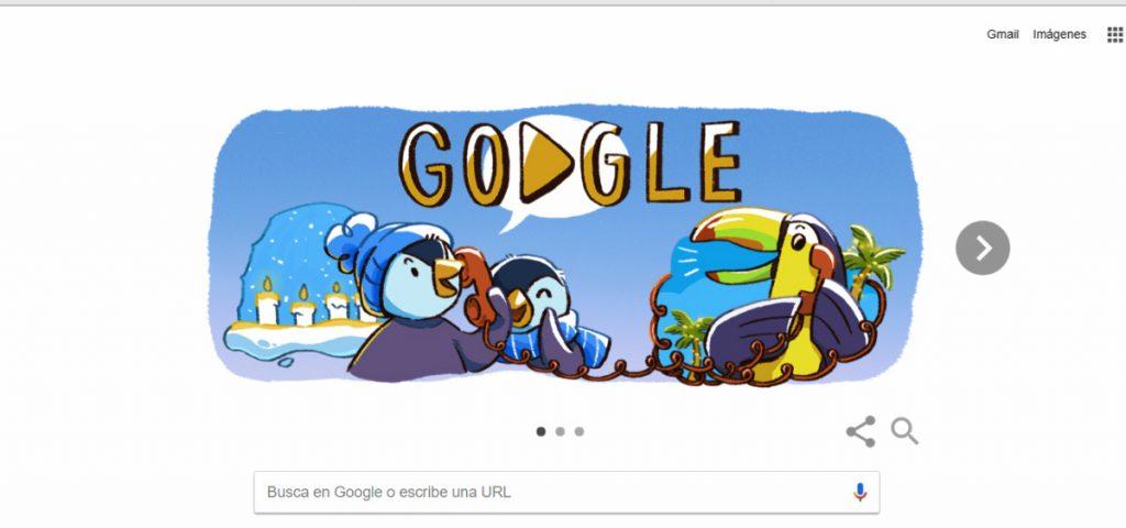 doodle de Google fiestas decembrinas 2017