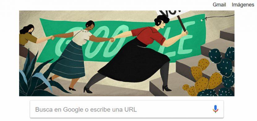 elvia carrillo puerto monja roja doodle google