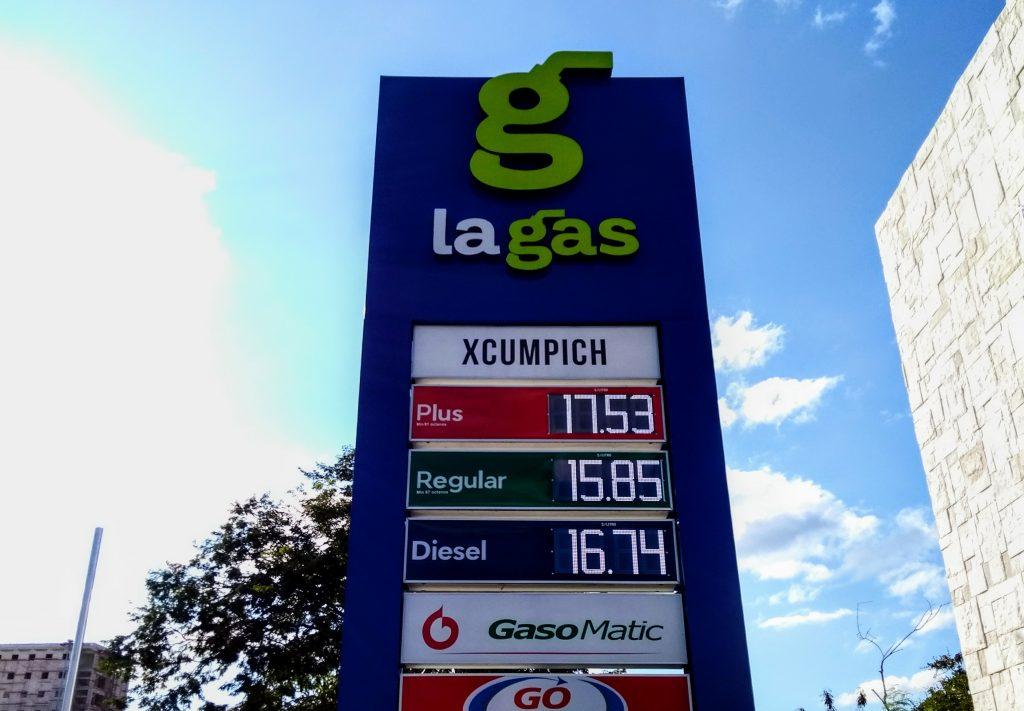 foto precio gasolina 29 diciembre 2017 merida la gas