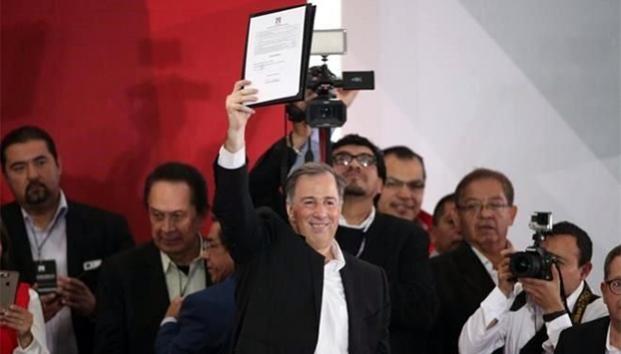 Meade se registra como precandidato presidencial del PRI