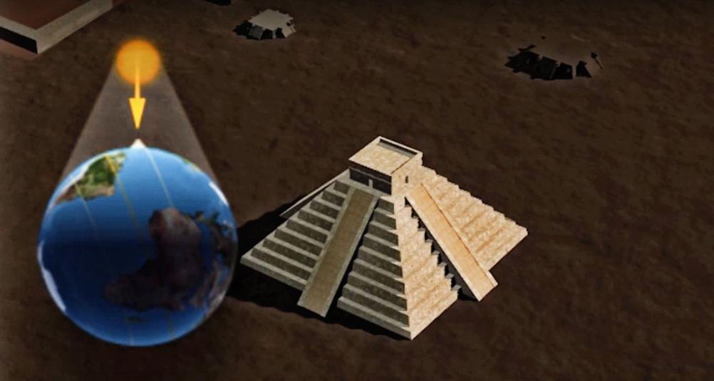 """Acreditan a yucateco """"Días sin sombra"""" en pirámides mayas (video)"""