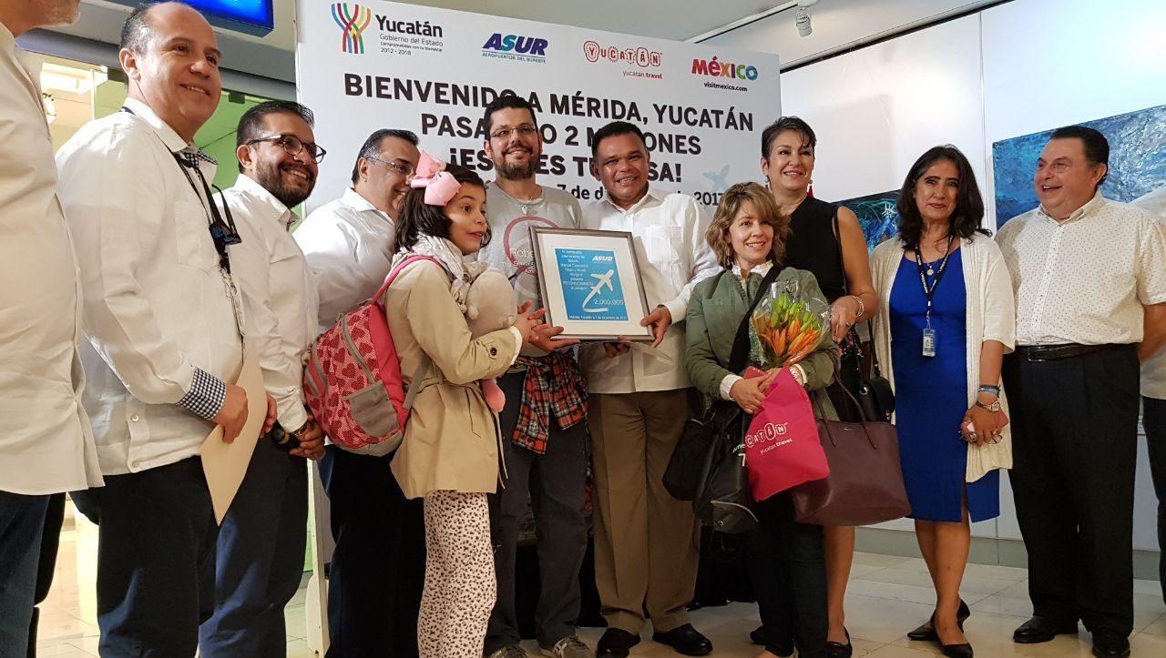 Recibe Yucatán 'visitante 2 millones'