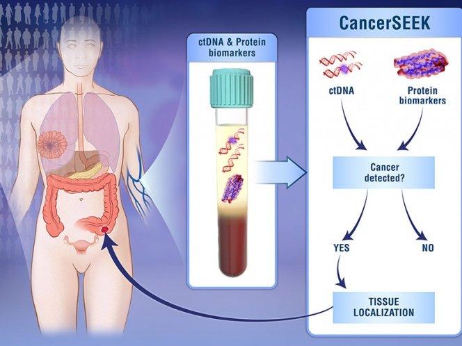 Crean test de sangre que detecta 8 tipos de cáncer