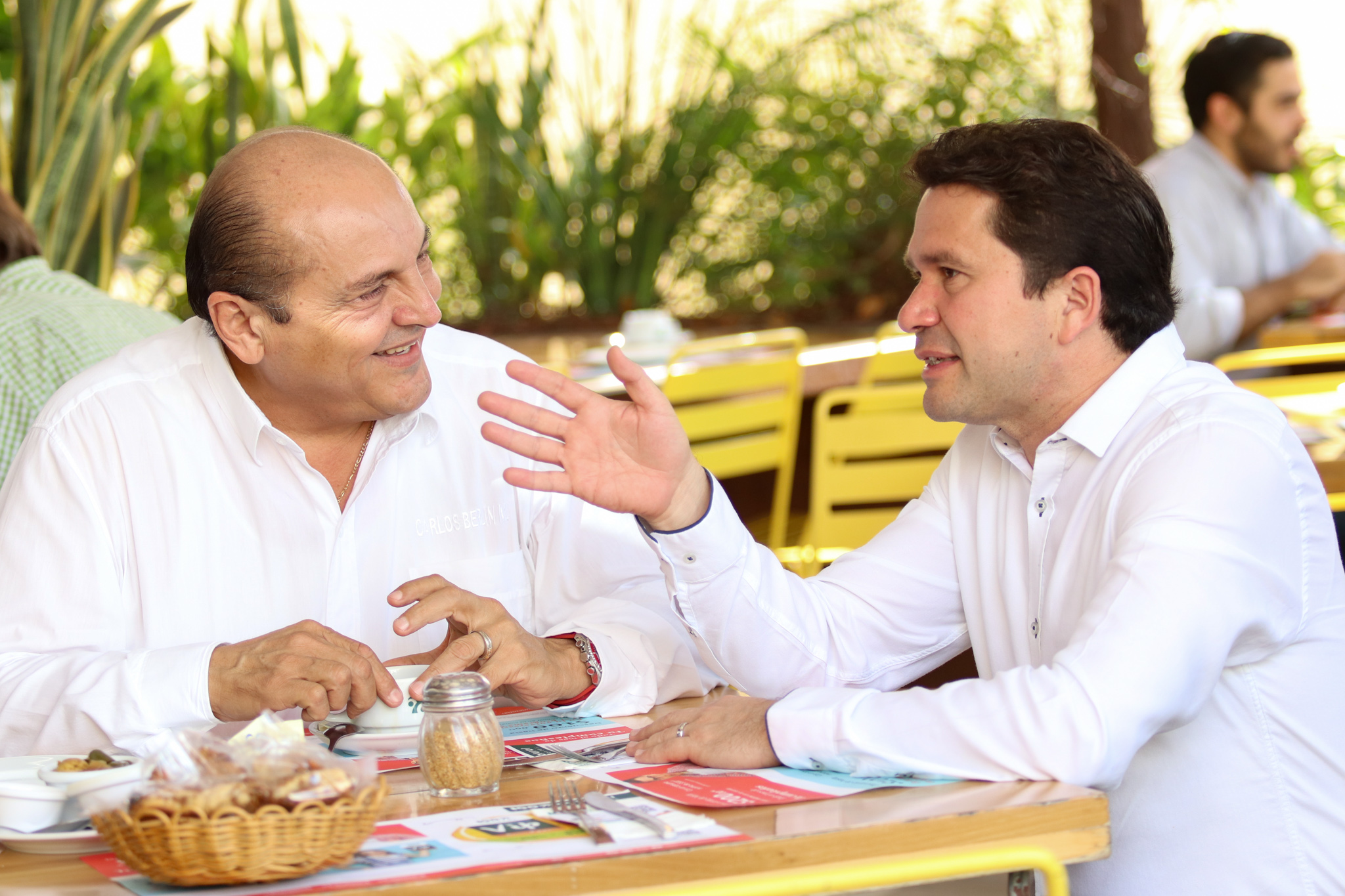 Reunión de Sahuí con coordinador de campaña de Meade en Yucatán